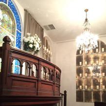 チャペル内祭壇