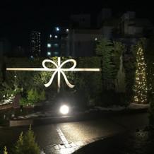 夜のガーデン  フォトスポット