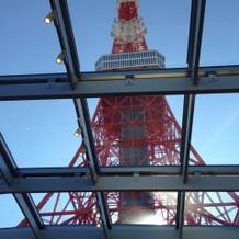 チャペル天井からの東京タワー