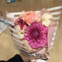 下見でお花をいただきました。