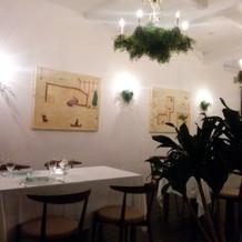 清潔感のあるレストラン