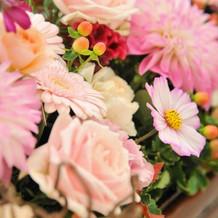 和と季節感のある装花