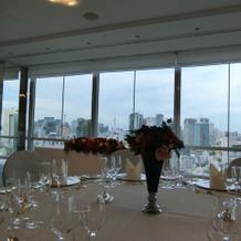 33階の披露宴会場