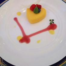 デザートもとても可愛い!