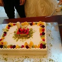 オリジナルの、ケーキ。