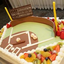 デザイン丸投げしたウェディングケーキ!