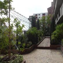 ガーデン内