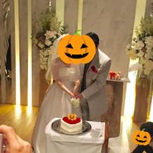 挙式内ケーキカット