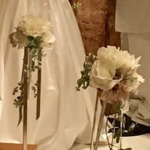 プラン内バージンロード装花