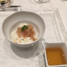 真鯛とダシと一緒に食べると2度美味しい