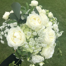 お花も細かく相談に乗って頂きました。