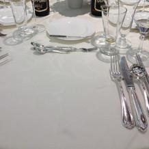 テーブル(着席後)