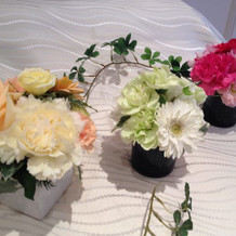 式場内で選べる装花の一部