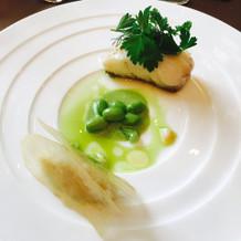 魚料理 真鯛のポワレ