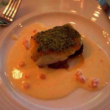 本番メイン魚料理