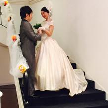 会場の階段で愛の告白