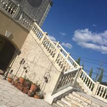 チャペルからの大階段