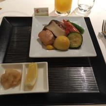 メインは肉か魚か選べます