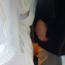 鶴の刺繍の白無垢
