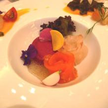鮮魚と野菜の前菜