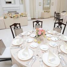 招待したお客様のテーブル