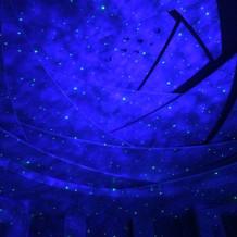 星空の演出は歓声が上がりました。