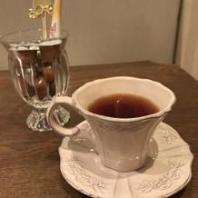 出していただいた紅茶のカップも可愛い