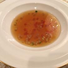 金箔入りのスープ、美味しかったです