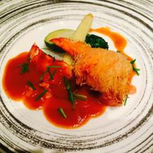 魚料理(オマール海老)