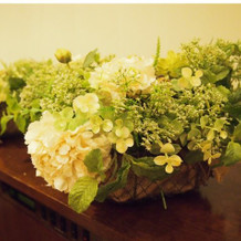 装飾花は持ち帰り可です。ゲストに好評!