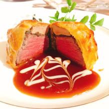 牛フィレ肉とフォアグラのパイ包み