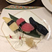 妻のお寿司の写真です