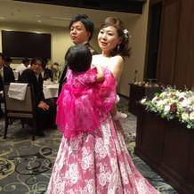 このドレスはかなり好評でした!