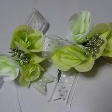 シャンパングラス装花(手作り)