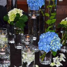 会食会場の装花