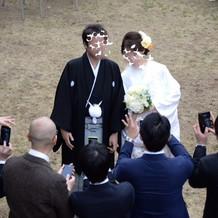 八幡宮での挙式を終えてヘアチェンジ☆