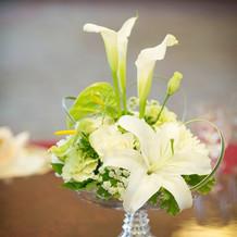 卓上の装花