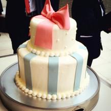 リクエスト通りのウェディングケーキ