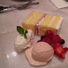 ケーキも美味しかったです