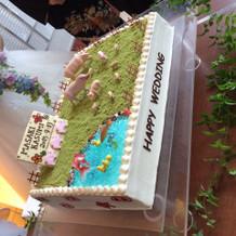 イメージ通りのウエディングケーキ