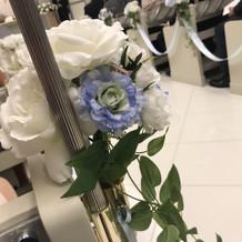 チャペル内の花