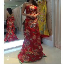 着物地のドレス②