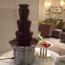 チョコレートファウンテンも可能