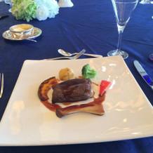 ビーフサーロインのポワレと温野菜