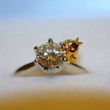 提携先でオリジナルの指輪を作りました。