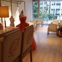 2階の商談の部屋。