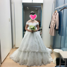 桂由美さんのウエディングドレス