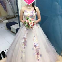 当日着た桂由美さんのカラードレス