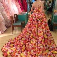 蜷川実花さんのドレスを着用しました。