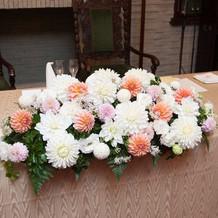 会場装花(メインテーブル)